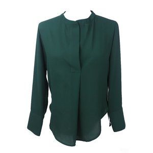 Banana Republic Small Green Blouse Long Sleeves XS